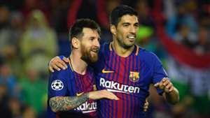 Lionel Messi Luis Suarez Barcelona Olympiakos UCL 18102017