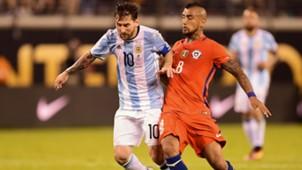 Messi, Vidal, Chile, Argentinien, 08052017