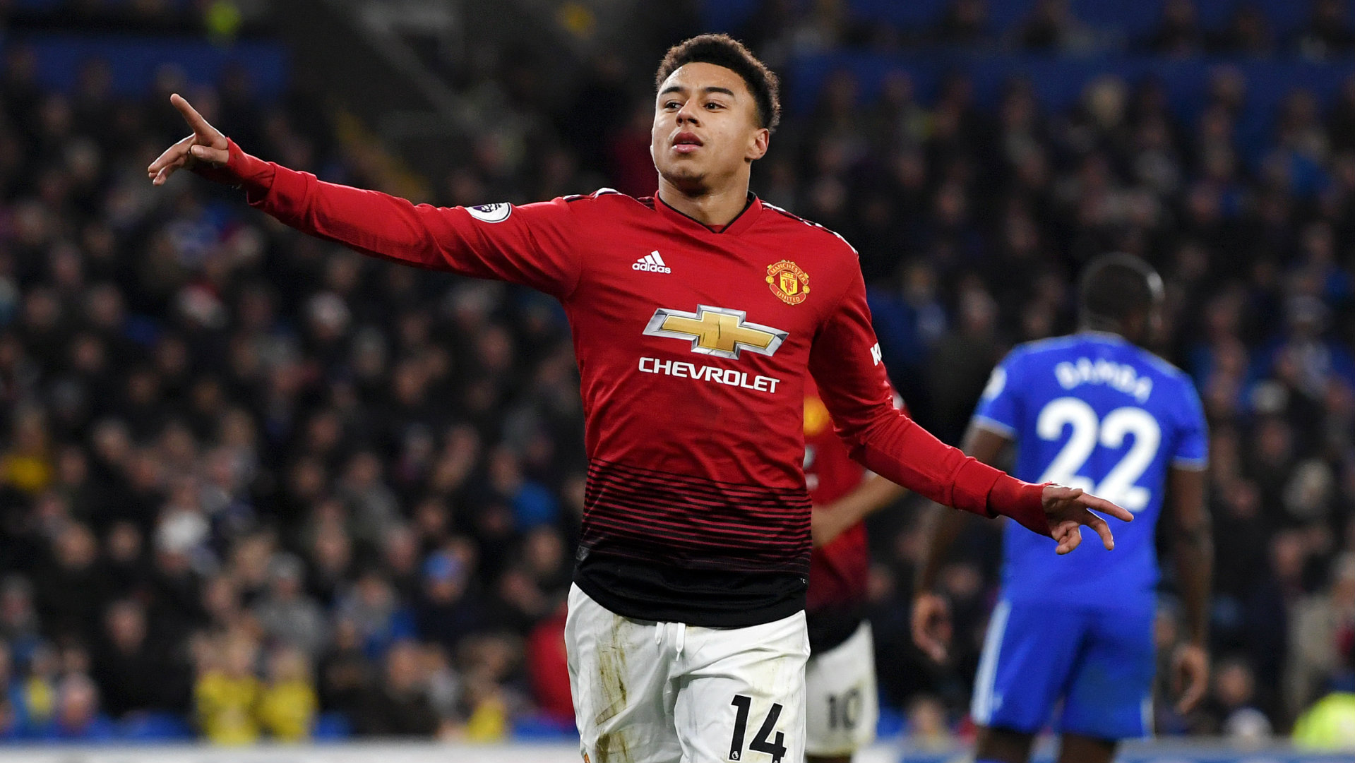 Jesse Lingard Cardiff vs Manchester United Premier League 2018-19