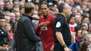 Jurgen Klopp Virgil van Dijk Liverpool Southampton Premier League 22092018