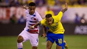 Neymar Tyler Adams USA Brazil Friendly 07092018