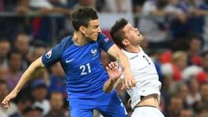 Laurent Koscielny Andi Lila France Albania UEFA Euro 2016 15062016