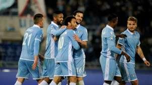 Lazio celebrating Lazio Torino Serie A