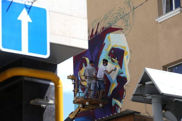 Messi graffiti Kazany