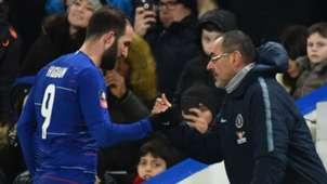 Gonzalo Higuain Maurizio Sarri Chelsea