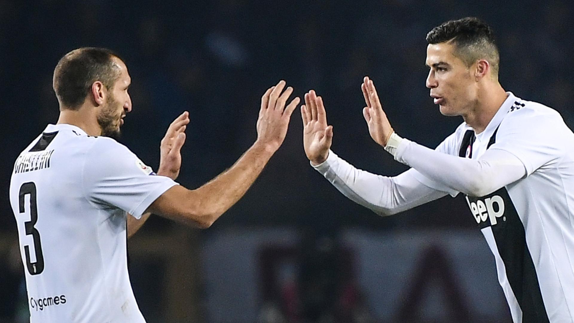Cristiano Ronaldo Giorgio Chiellini Juventus Turin 15122018