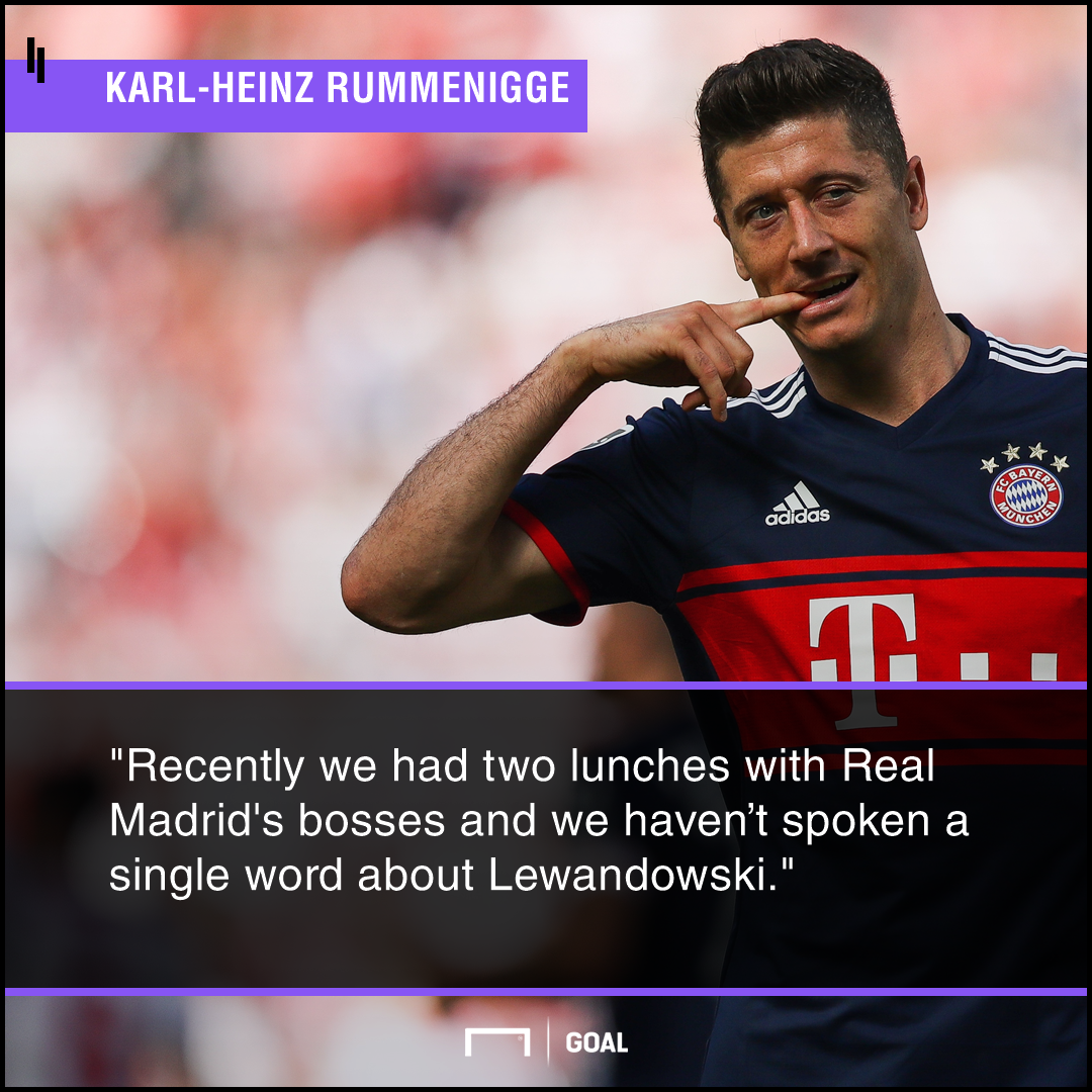 Robert Lewandowski Real Madrid no approach