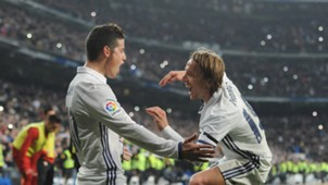 James Rodriguez Luka Modric Real Madrid Copa del Rey