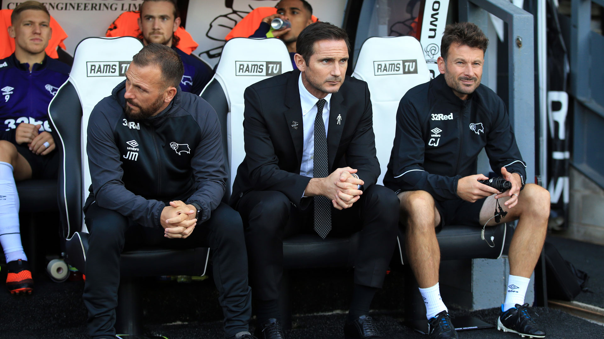 Jody Morris, Frank Lampard and Chris Jones at Derby County