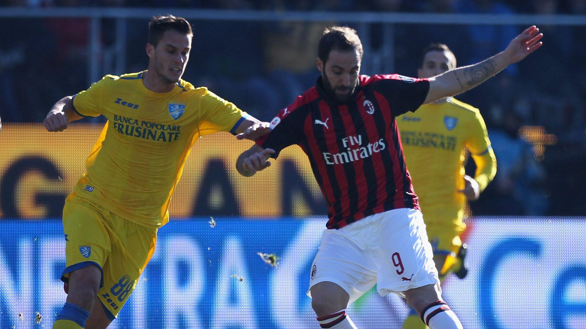 Gonzalo Higuain Frosinone Milan Serie A