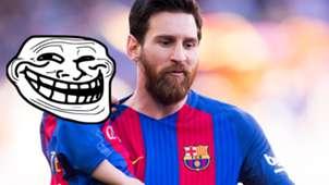 Messi e Mateo troll face