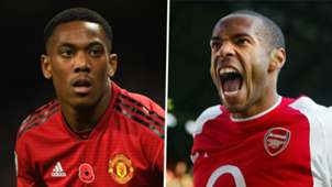 Anthony Martial Thierry Henry Man Utd Arsenal