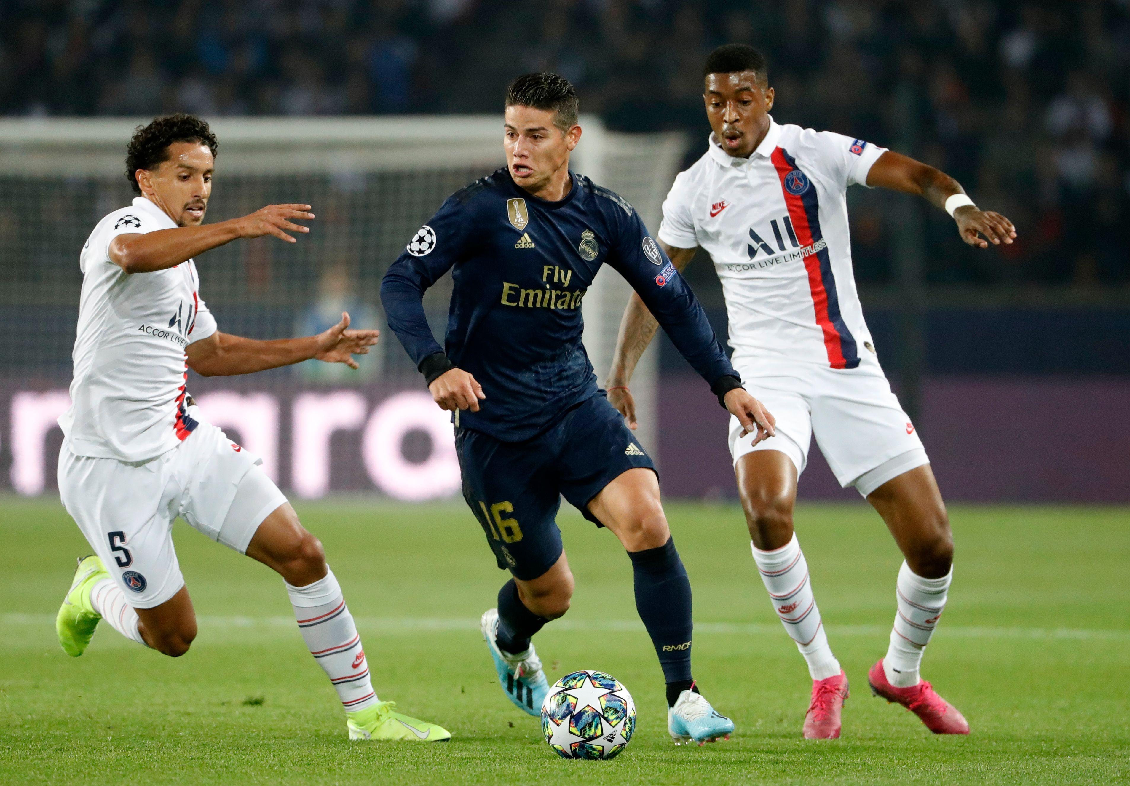 James Rodríguez Real Madrid - PSG Champions League 2019