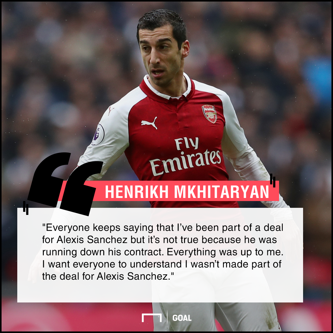 Henrikh Mkhitaryan no Alexis Sanchez makeweight