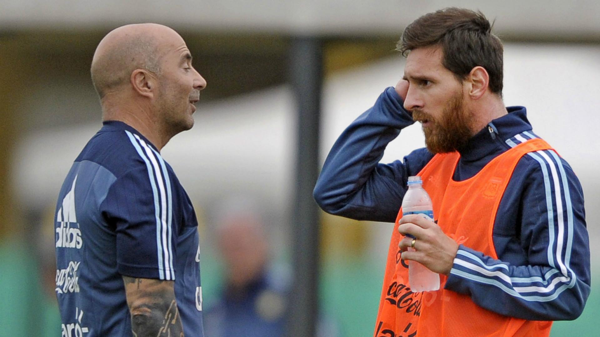 Jorge Sampaoli Lionel Messi Argentina