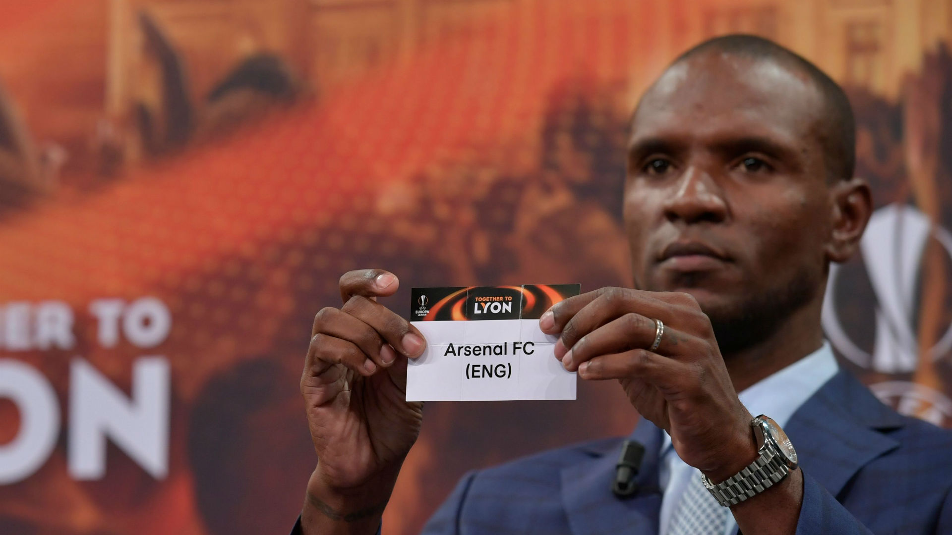 Eric Abidal Arsenal Europa League draw