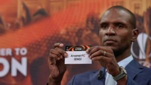 Eric Abidal Arsenal Europa League draw