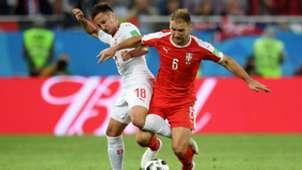 switzerland serbia - mario gavranovic branislav ivanovic - world cup - 22062018