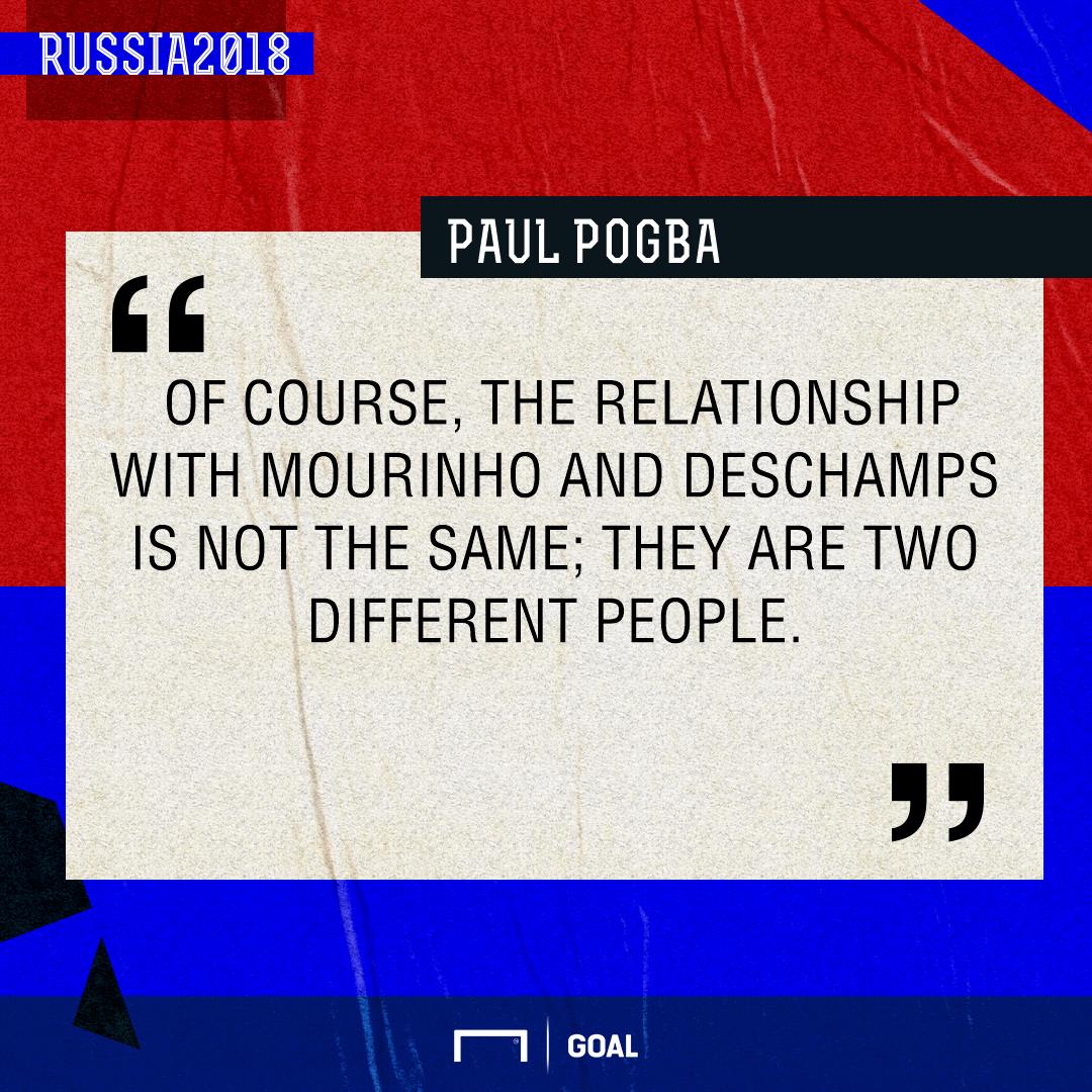 Paul Pogba Mourinho Deschamps PS