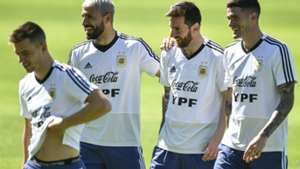 Lo Celso Aguero Messi De Paul Entrenamiento Seleccion Argentina Belo Horizonte Copa America
