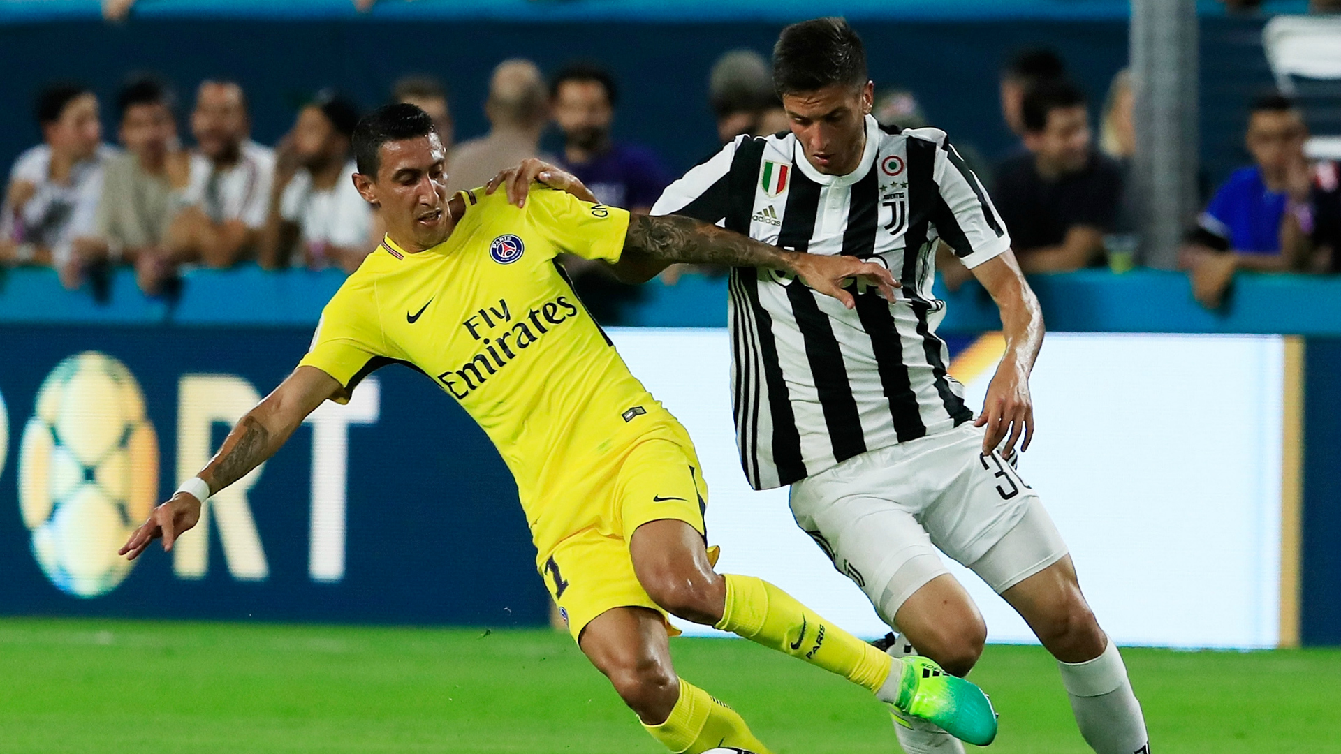 Angel Di Maria Rodrigo Bentancur PSG Juventus International Champions Cup 07262017