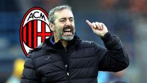 Marco Giampaolo, AC Milan logo