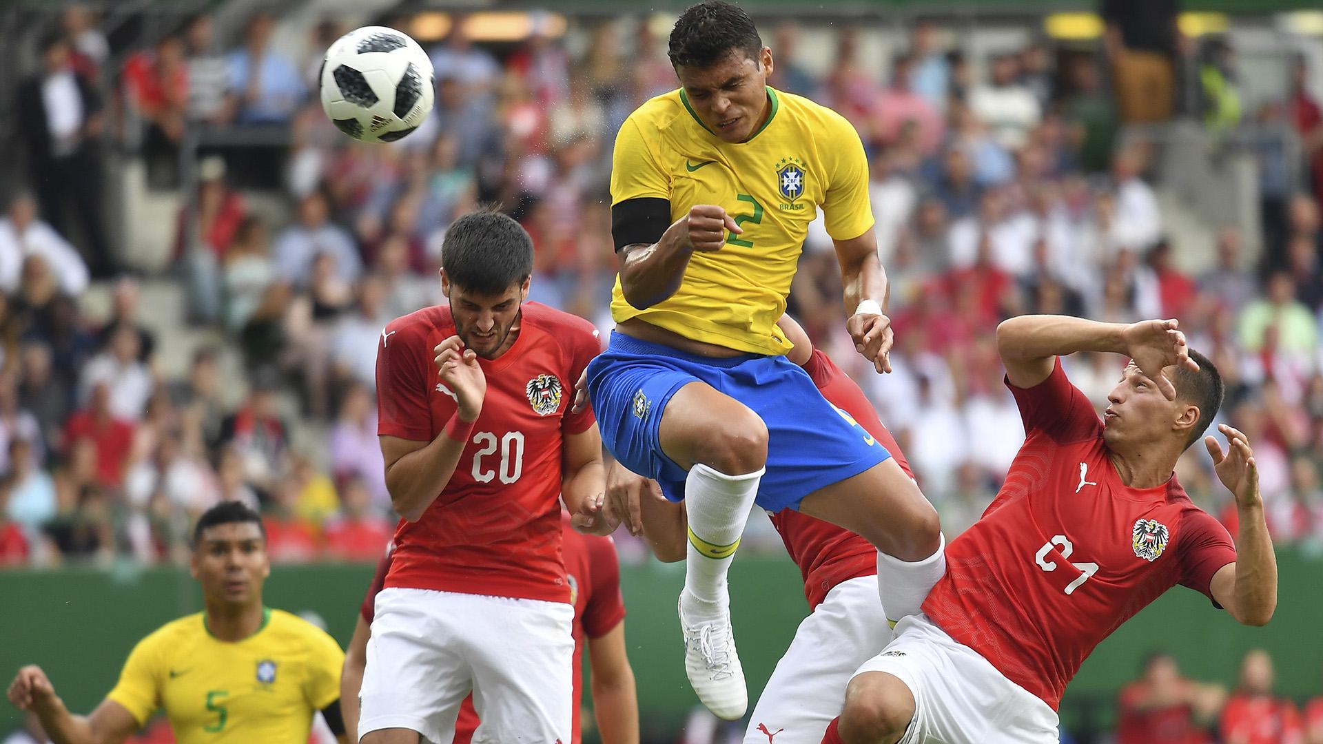 Thiago Silva Brasil x Áustria Amistoso 10 06 18