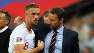 Jordan Henderson Gareth Southgate England 2018-19