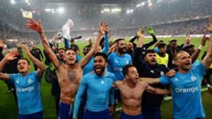Marseille celebrating Europa League