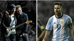 U2 Lionel Messi Argentina