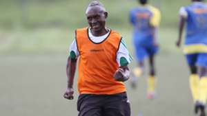 Western Stima coach Henry Omino celebrates against Mathare United.