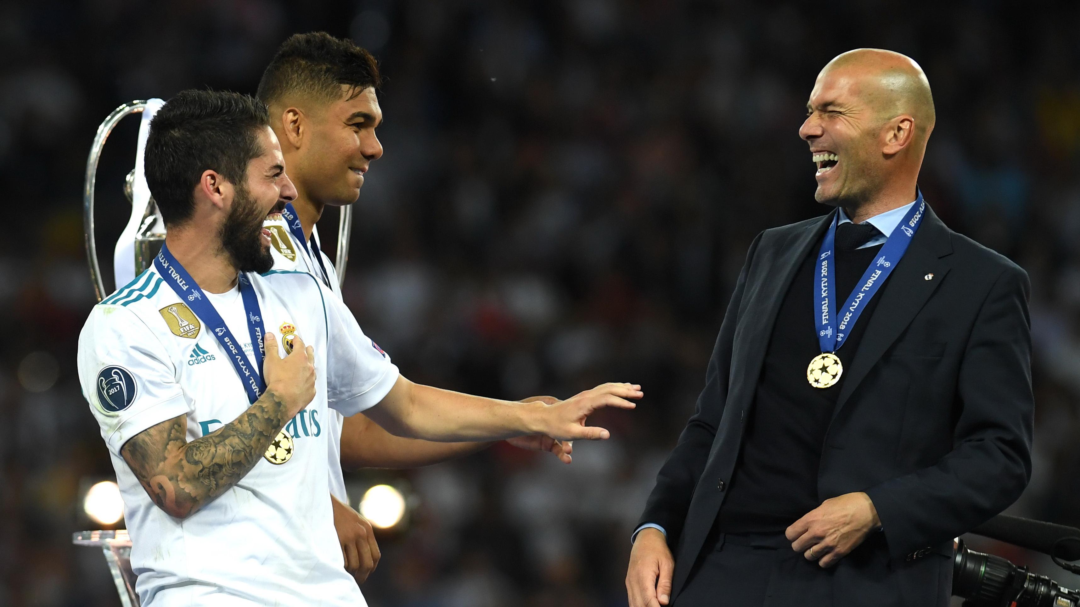 Isco Alarcon Zinedine Zidane Real Madrid Livepool Champions League 2018