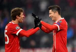Thomas Muller & Robert Lewandowski