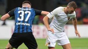 Skriniar Dzeko Inter Roma