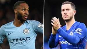 Raheem Sterling Eden Hazard Manchester City Chelsea