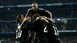 PSG Paris Saint-Germain celebrate