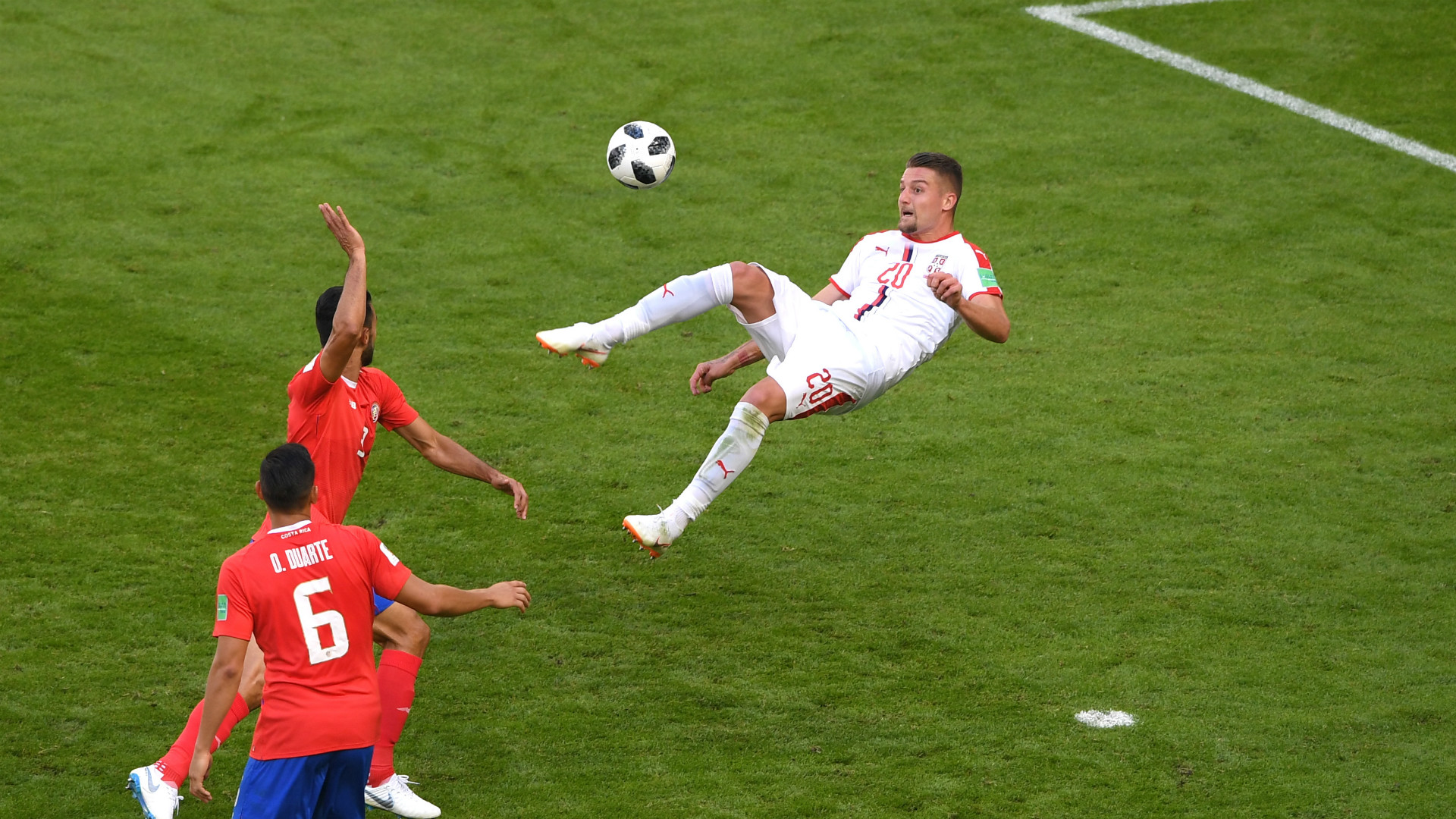 Second half free-kick gives Serbia victory over Costa Rica