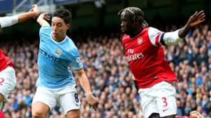 Samir Nasri Bacary Sagna Arsenal Manchester City