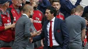 Pep Guardiola Unai Emery Arsenal Manchester City Premier League 2018-19