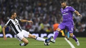 Leonardo Bonucci Karim Benzema Juventus Real Madrid