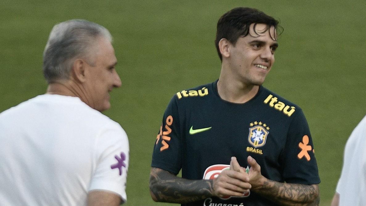 Tite Fagner Brasil Seleção treino 10 06 2019