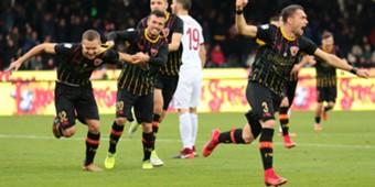 Benevento celebrating Milan Puscas
