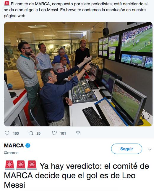 Diario Marca gol Messi