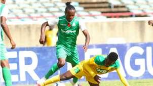 Francis Kahata of Gor Mahia v David Owino of Mathare United.