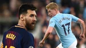Messi, De Bruyne split