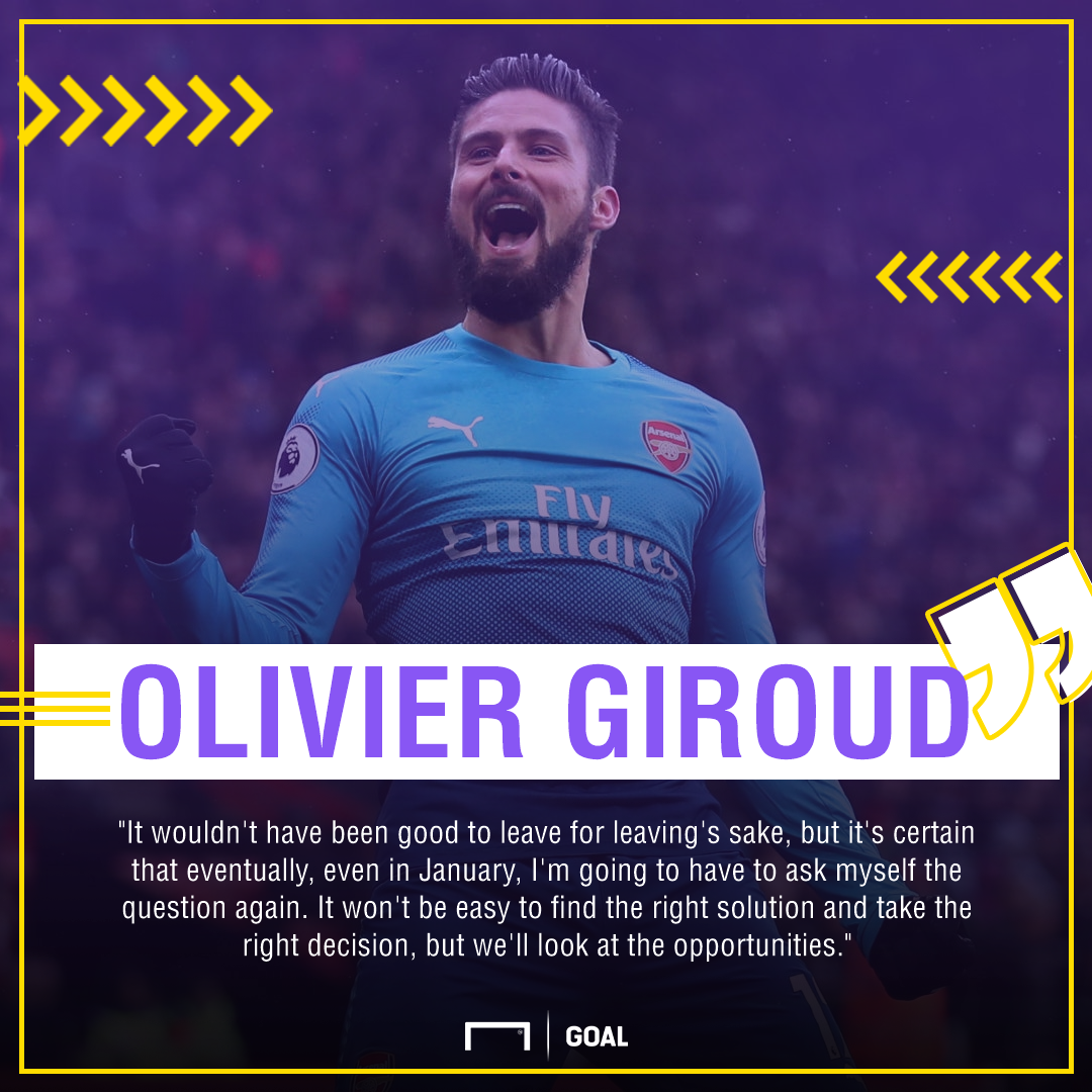 Olivier Giroud Arsenal exit January