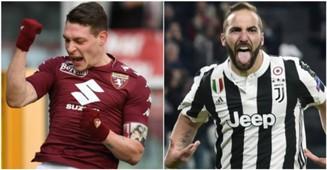 Belotti Higuain Torino Juventus