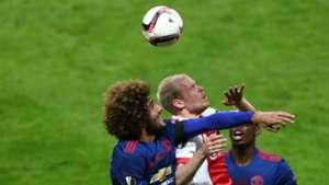 Marouane Fellaini Davy Klaassen Manchester United Ajax Europa League Final