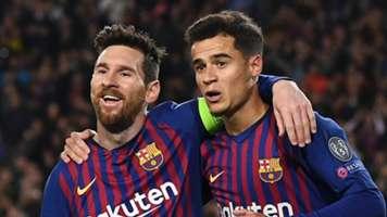 Lionel Messi, Philippe Coutinho, Barcelona vs Lyon 2018-19