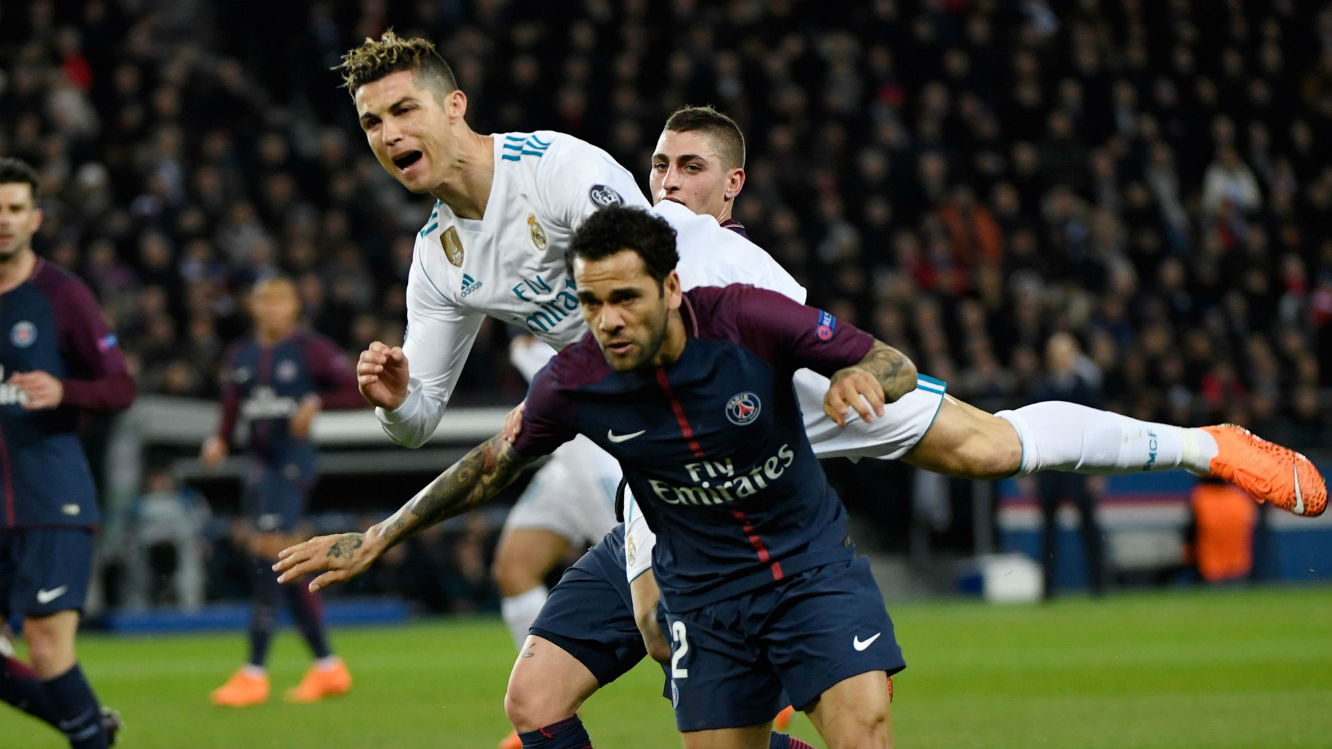 Cristiano Ronaldo Dani Alves Real Madrid PSG